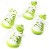 Dog Shoes, Size 5, Green & White with White Shoestrings