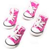 Dog Shoes, Size 5, Pink & White & Black with White Shoestrings