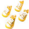 Dog Shoes, Size 4, Yellow & White with White Shoestrings