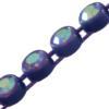 Machine Cut Rhinestone Plastic Banding 1 Row PP26 Crystal AB/Purple