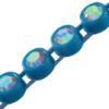 Machine Cut Rhinestone Plastic Banding 1 Row PP26 Crystal AB/Turquoise