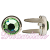 "Swarovski ""Bling in the Ring"" Pre-Set Rhinestone ss20 Peridot"