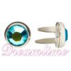 "Swarovski ""Bling in the Ring"" Pre-Set Rhinestone ss20 Blue Zircon"