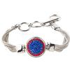 1-Snap Metal Bracelet - Sapphire/Light Siam (Periwinkle/Red)