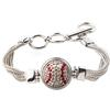 Baseball 1-Snap Metal Bracelet - Crystal/Light Siam (Crystal/Red)