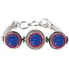 3-Snap Metal Bracelet - Sapphire/Light Siam (Periwinkle/Red)
