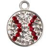 Game Time Bling Baseball Dangle - Crystal/Light Siam (Crystal/Red)