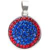 Classic Snap Pendant - Sapphire/Light Siam (Periwinkle/Red)