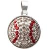 Baseball Classic Snap Pendant - Crystal/Light Siam (Crystal/Red)