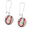 Game Time Bling Baseball Earrings - Crystal/Light Siam - Sold by the Pair