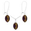 Game Time Bling Mini Football Necklace & Earring Gift Set - Amethyst/Topaz
