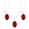 Game Time Bling Mini Football Necklace & Earring Gift Set - Hyacinth/Amethyst