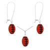 Game Time Bling Mini Football Necklace & Earring Gift Set - Hyacinth/Jet