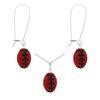 Game Time Bling Mini Football Necklace & Earring Gift Set - Light Siam/Jet