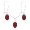 Game Time Bling Mini Football Necklace & Earring Gift Set - Light Siam/Montana