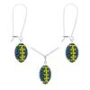Game Time Bling Mini Football Necklace & Earring Gift Set - Montana/Citrine