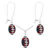 Game Time Bling Mini Football Necklace & Earring Gift Set - Montana/Crystal/Light Siam
