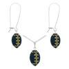 Game Time Bling Mini Football Necklace & Earring Gift Set - Montana/Light Colorado Topaz