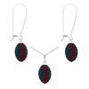 Game Time Bling Mini Football Necklace & Earring Gift Set - Montana/Light Siam
