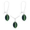 Game Time Bling Mini Football Necklace & Earring Gift Set - Montana/Peridot