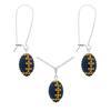 Game Time Bling Mini Football Necklace & Earring Gift Set - Montana/Topaz