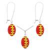 Game Time Bling Mini Football Necklace & Earring Gift Set - Light Siam/Citrine