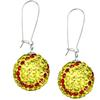 Game Time Bling Softball Earrings - Citrine/Light Siam - Sold by the Pair