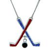"Game Time Bling Ice Hockey Necklace - 18"" - Sapphire/Light Siam"
