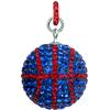 Game Time Bling Large Basketball Pendant (With ring) - Sapphire/Light Siam