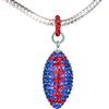 """Game Time Bling Large Football Necklace - 18"""" - Sapphire/Light Siam"""