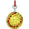 Game Time Bling 20mm Softball w/ Red Ring - Citrine/Light Siam