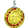 Game Time Bling 20mm Softball w/Sterling Silver Loop - Citrine/Light Siam