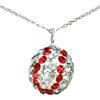 "Game Time Bling Baseball Necklace - 18"" - Crystal/Light Siam"