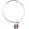 Game Time Bling Baseball Dangle Bracelet - Crystal/Light Siam (Crystal/Red)