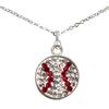 Game Time Bling Baseball Dangle Necklace - Crystal/Light Siam (Crystal/Red)