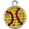 Game Time Bling Softball Dangle - Citrine/Light Siam (Citrine/Red)