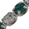 Crystal/Emerald Alternating 1 row