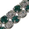 Crystal/Emerald Alternating 2 rows