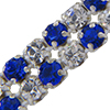 Metal Set Rhinestone Banding 2 Row