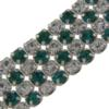 Crystal/Emerald Alternating 4 rows