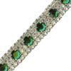 Rhinestone Banding with Emerald Accent