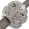 Round, Large Hole, Rhinestone Bead 16mm Crystal/Silver