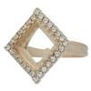 Adjustable Ring for Swarovski 4447 12mm Square Princess Stone Rose Gold