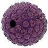 Round Pave Bead with 2.0mm hole, Alora Crystals Amethyst 10 mm