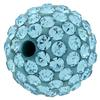 Round Pave Bead with 2.0mm hole, Alora Crystals Aquamarine 10 mm