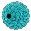Round Pave Bead with 2.0mm hole, Alora Crystals Blue Zircon 10 mm