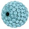 Round Pave Bead with 2.0mm hole, Alora Crystals Aquamarine 12 mm