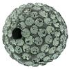 Round Pave Bead with 2.0mm hole, Alora Crystals Black Diamond 12 mm