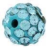 Round Pave Bead with 1.2mm hole, Alora Crystals Aquamarine 6 mm