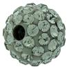 Round Pave Bead with 1.2mm hole, Alora Crystals Black Diamond 6 mm